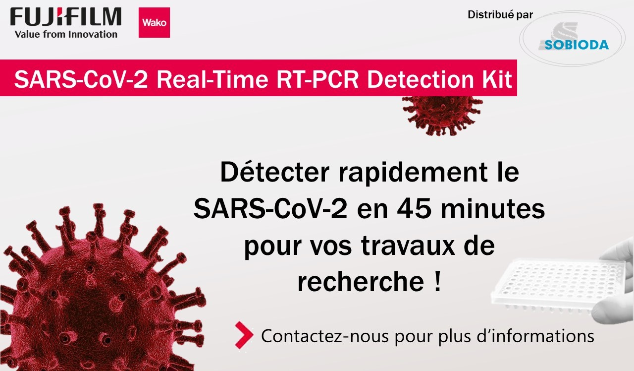 SARS-CoV-2 Real-Time RT-PCR Detection Kit de Fujifilm WAKO distribué par SOBIODA